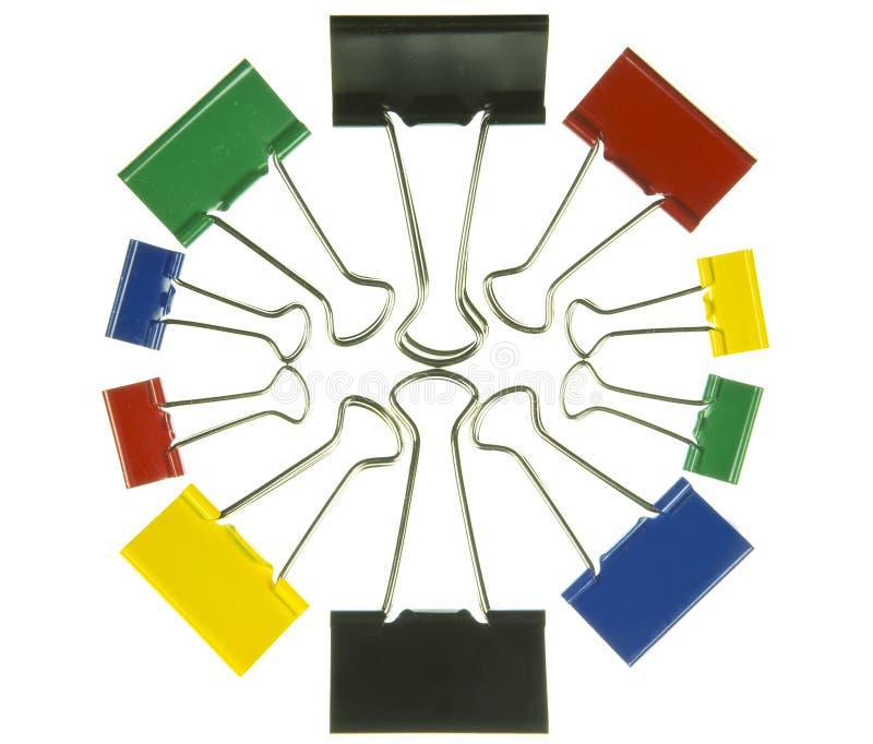 вертикаль зажима бумажная стоковое изображение rf