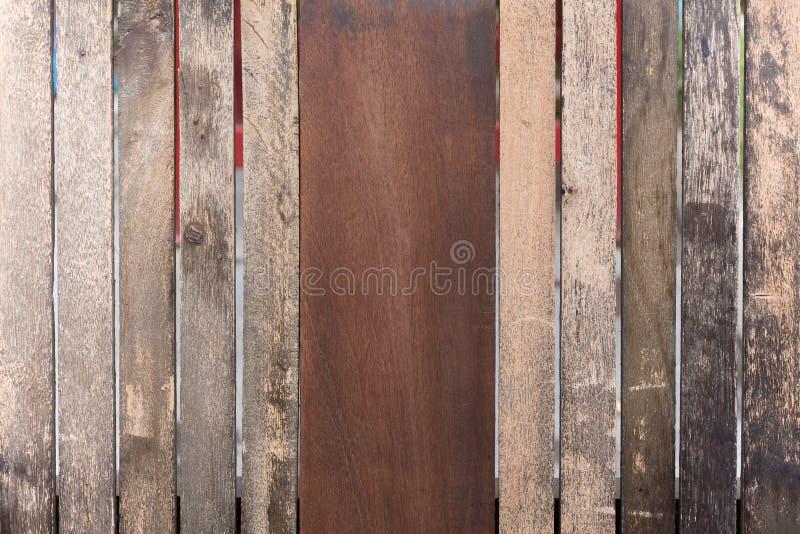 Вертикаль старой деревянной предпосылки стены панели стоковое фото