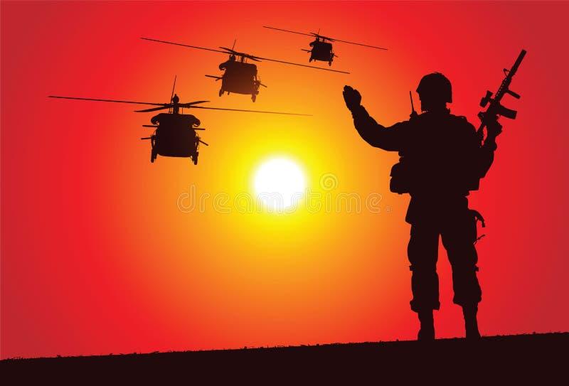 вертолеты иллюстрация вектора