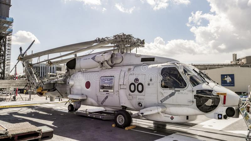 Вертолет Анти--подводной лодки Мицубиси SH-60J японский стоковая фотография rf