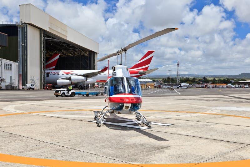 Вертолет в Маврикии стоковое изображение rf