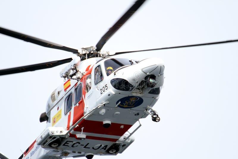 Вертолет испанской морской спасательной команды стоковое фото