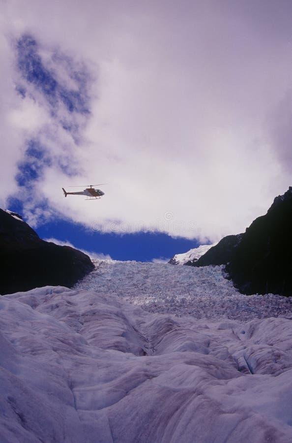 вертолет ледника лисицы сверх стоковая фотография rf