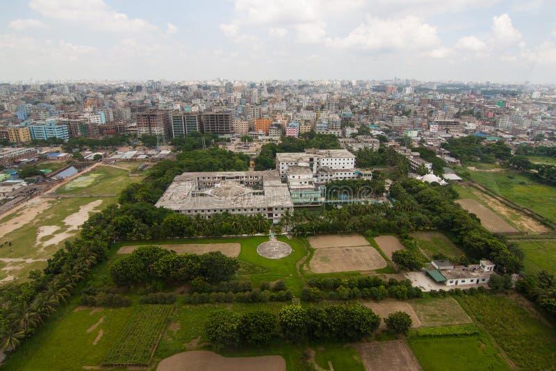 Вертолет снятый от Дакки, Бангладеш стоковое изображение