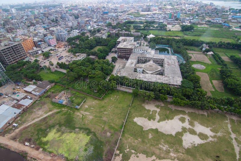 Вертолет снятый от Дакки, Бангладеш стоковая фотография rf