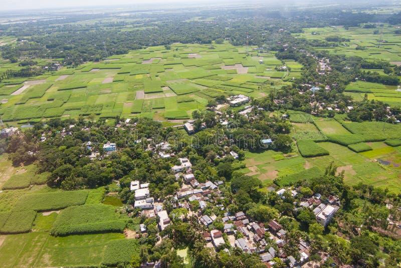 Вертолет снятый от Дакки, Бангладеш стоковые изображения rf