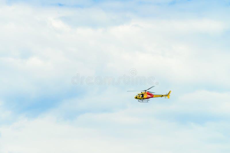 Вертолет спасения спасателя Westpac стоковое изображение rf