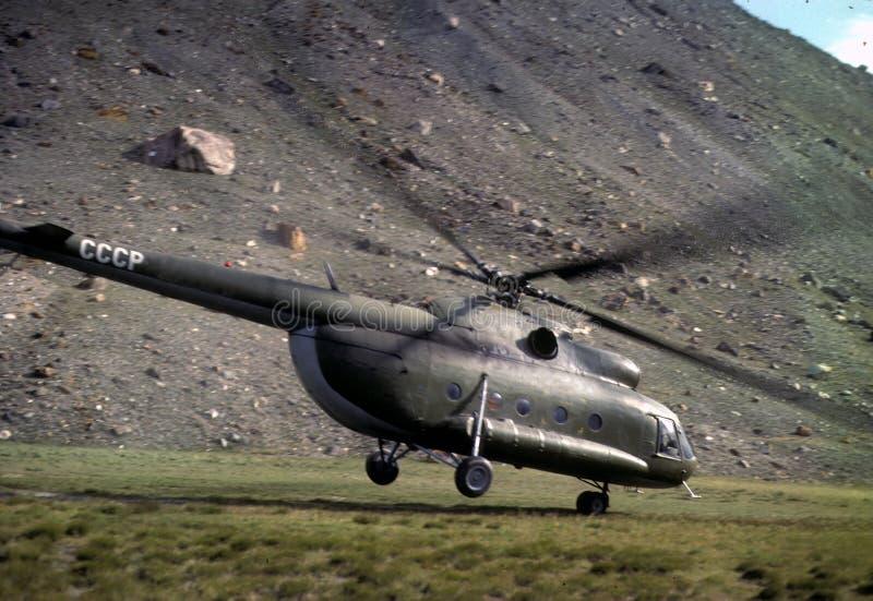 вертолет с советский принимать стоковое фото rf