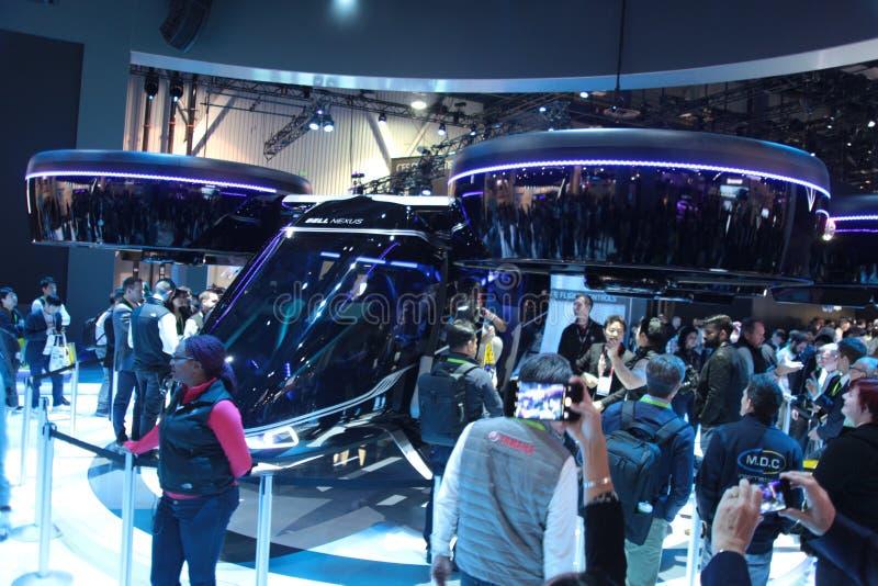 Вертолет цепи колокола на CES 2019 стоковые фотографии rf