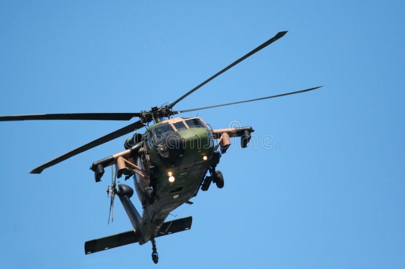 вертолет blackhawk стоковое изображение