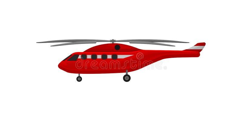 Вертолет Firefighting, иллюстрация вектора корабля чрезвычайного обслуживани на белой предпосылке бесплатная иллюстрация
