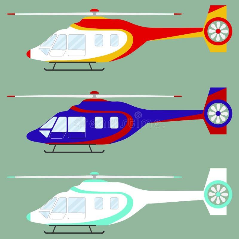 Вертолет, комплект вертолетов бесплатная иллюстрация