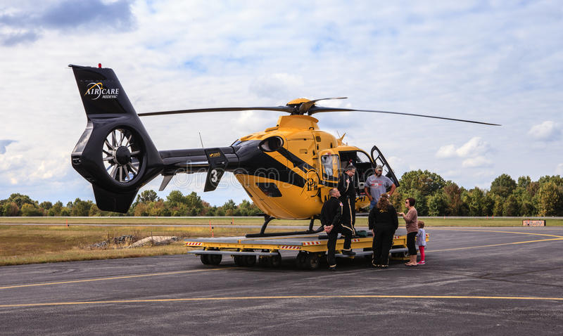 Вертолет санитарного Вирджинии AirCare 3 стоковая фотография