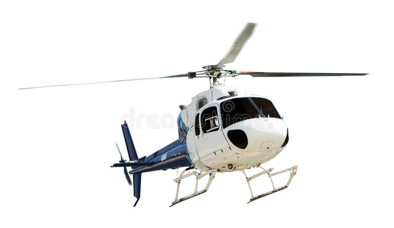 Вертолет с работая пропеллером стоковое изображение
