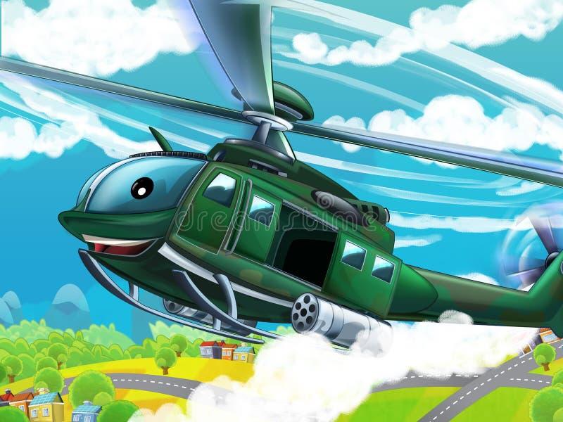 Download Вертолет шаржа - иллюстрация для детей Иллюстрация штока - иллюстрации насчитывающей полет, принуждение: 40584823