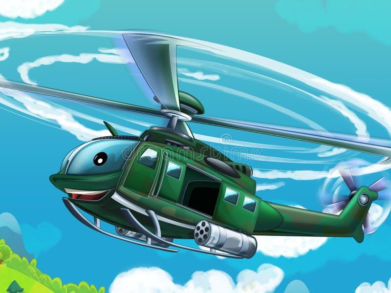 Download Вертолет шаржа - иллюстрация для детей Иллюстрация штока - иллюстрации насчитывающей машина, наконечников: 40585084
