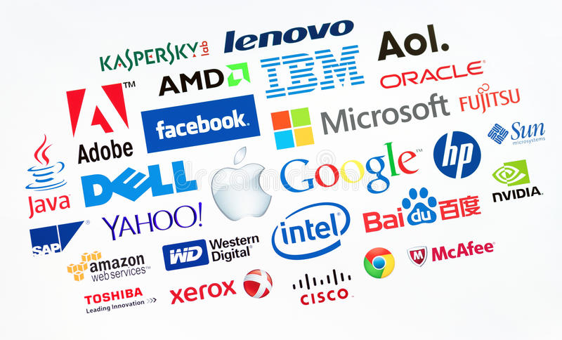 Верхние компьютерные компании в мире стоковые изображения rf