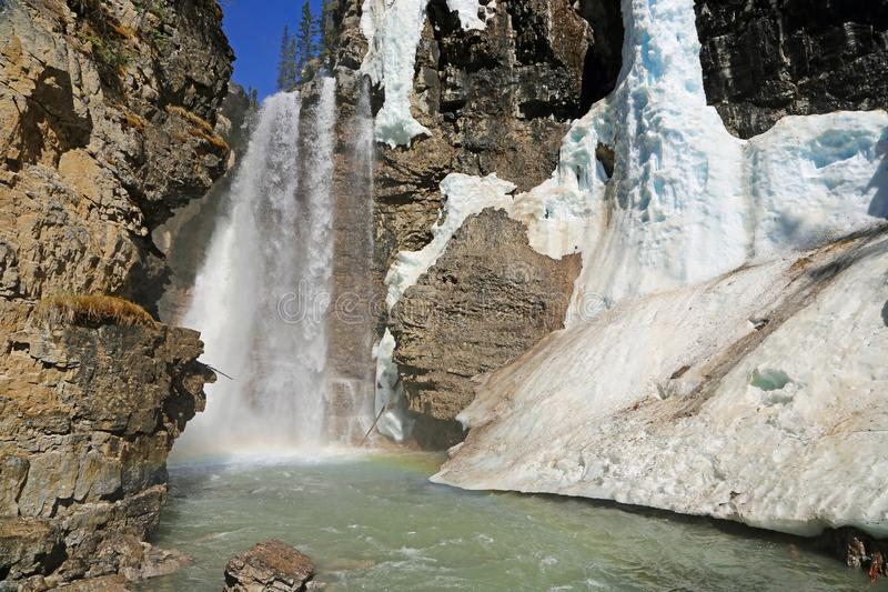 Верхние падения каньона Johnston стоковые изображения rf
