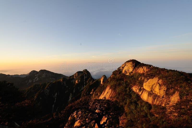 Верхний пик Guniujiang стоковые изображения