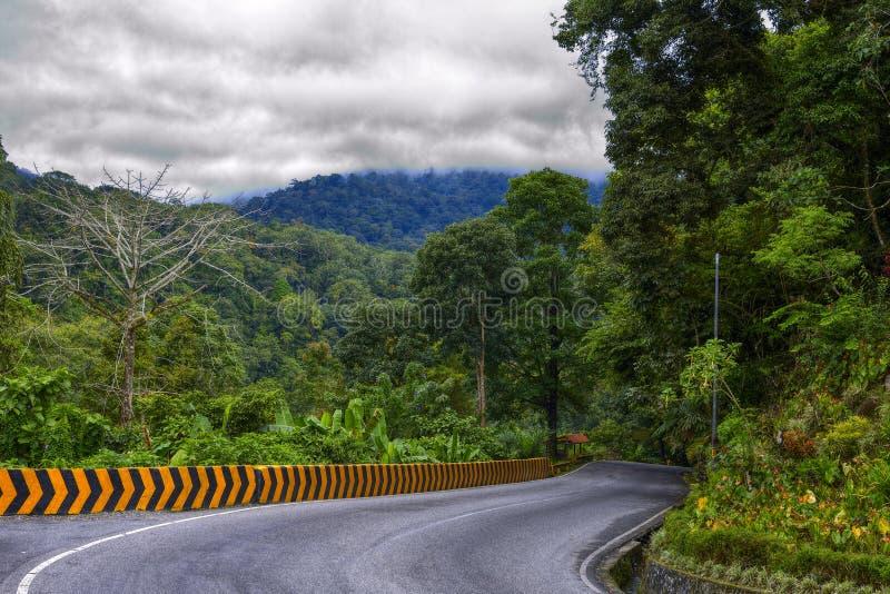Верхний поворот Silaing в полдень, Padang Panjang, Tanah Datar, западная Суматра, Индонезия стоковое изображение rf