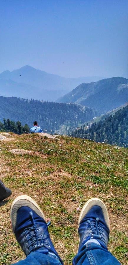 Верхний пункт мой trekking стоковые фотографии rf