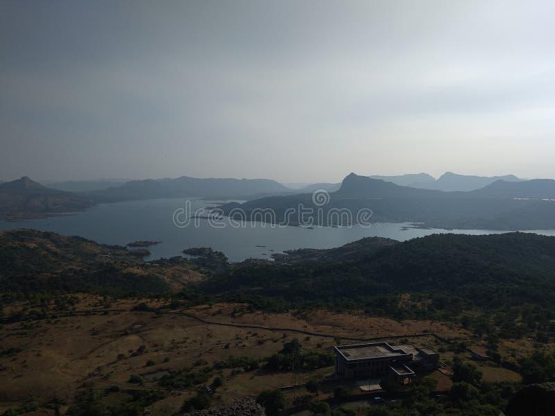 Верхний форт visapur, pune стоковые изображения