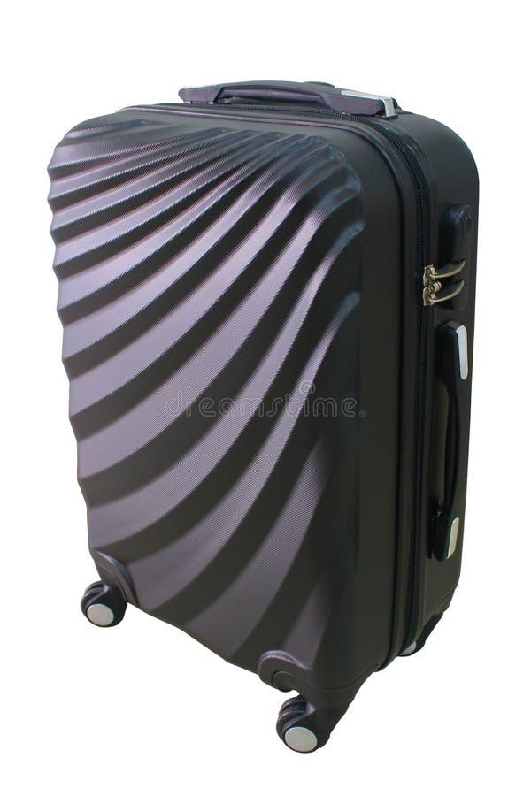 Верхняя сторона чемодана изолированная на белой предпосылке стоковое фото