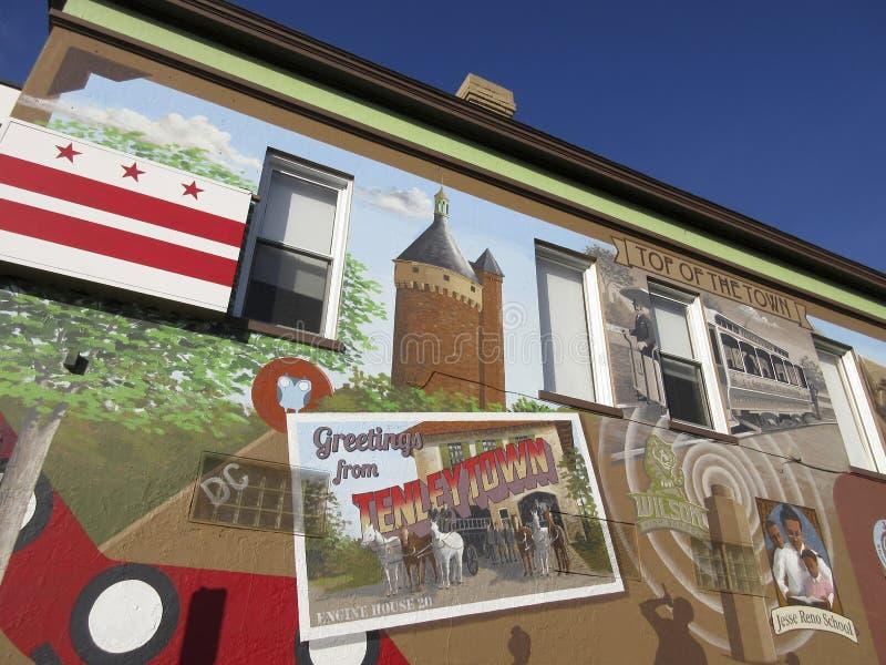 Верхняя часть городка в Tenleytown стоковые изображения rf