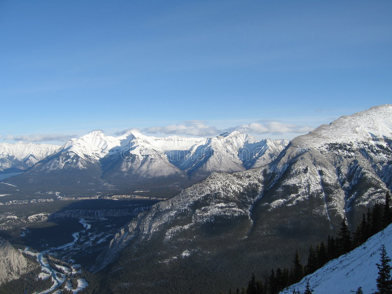 верхняя часть горы banff стоковое фото