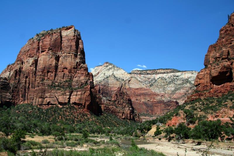 верхняя часть горы s посадки ангела стоковое фото rf