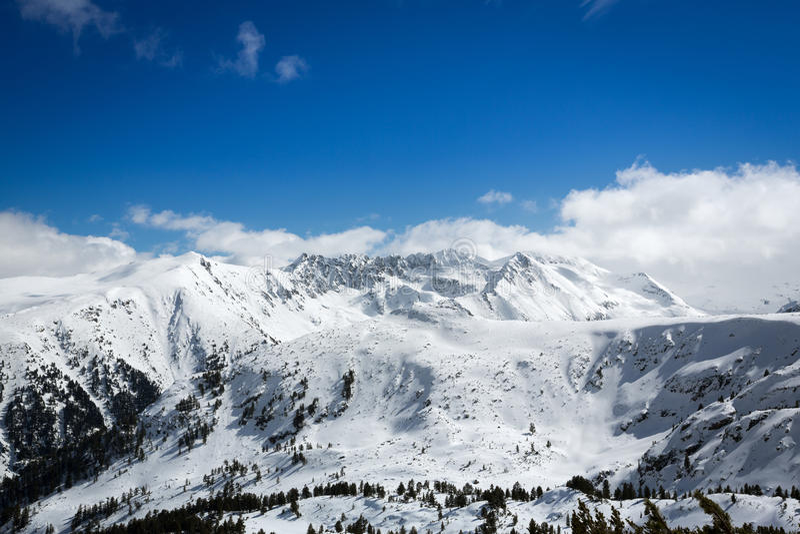 Верхняя часть гор стоковая фотография