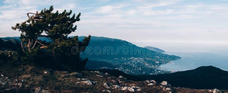 Верхняя часть крымской горы Ai-Petri стоковое изображение