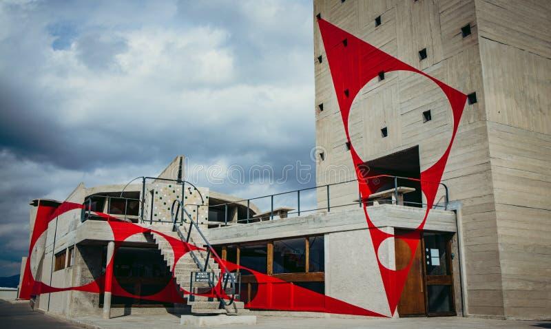 Верхняя часть крыши Corbusier стоковое изображение rf