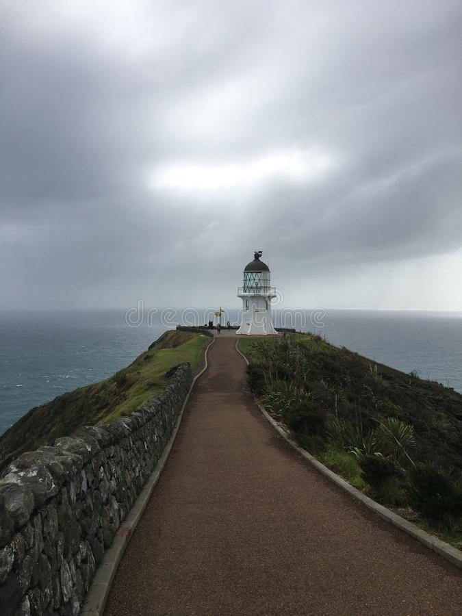 Верхняя часть маяка Новой Зеландии стоковая фотография rf