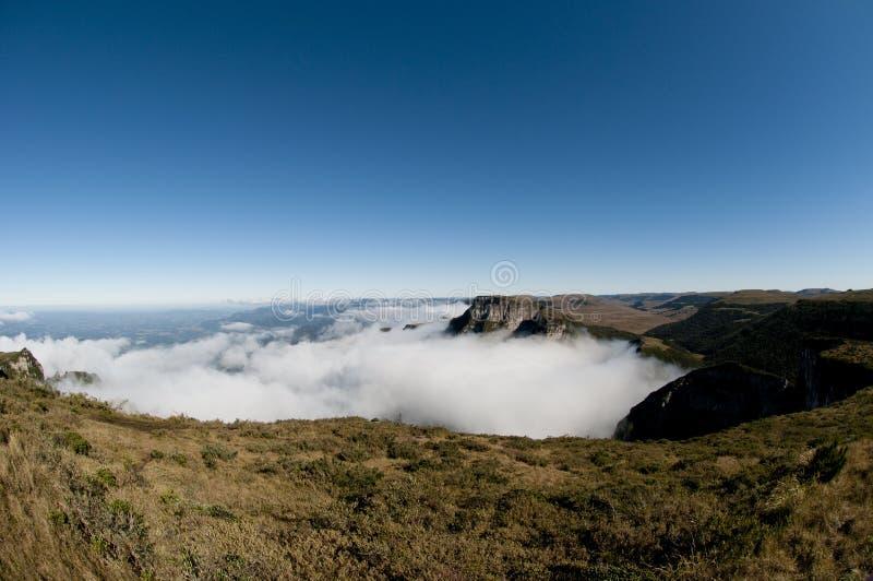 Верхняя часть мира, Санта-Катарина - Бразилия стоковые фотографии rf
