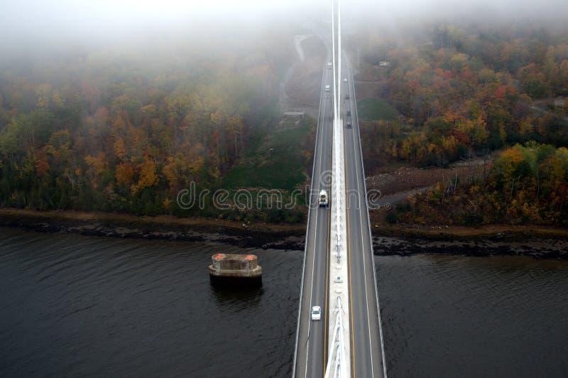 Верхняя часть обсерватории висячего моста стоковые фотографии rf