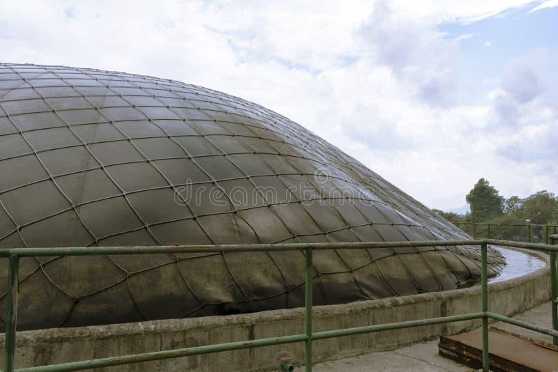 Верхняя часть объекта хранения и продукция био газа стоковые изображения