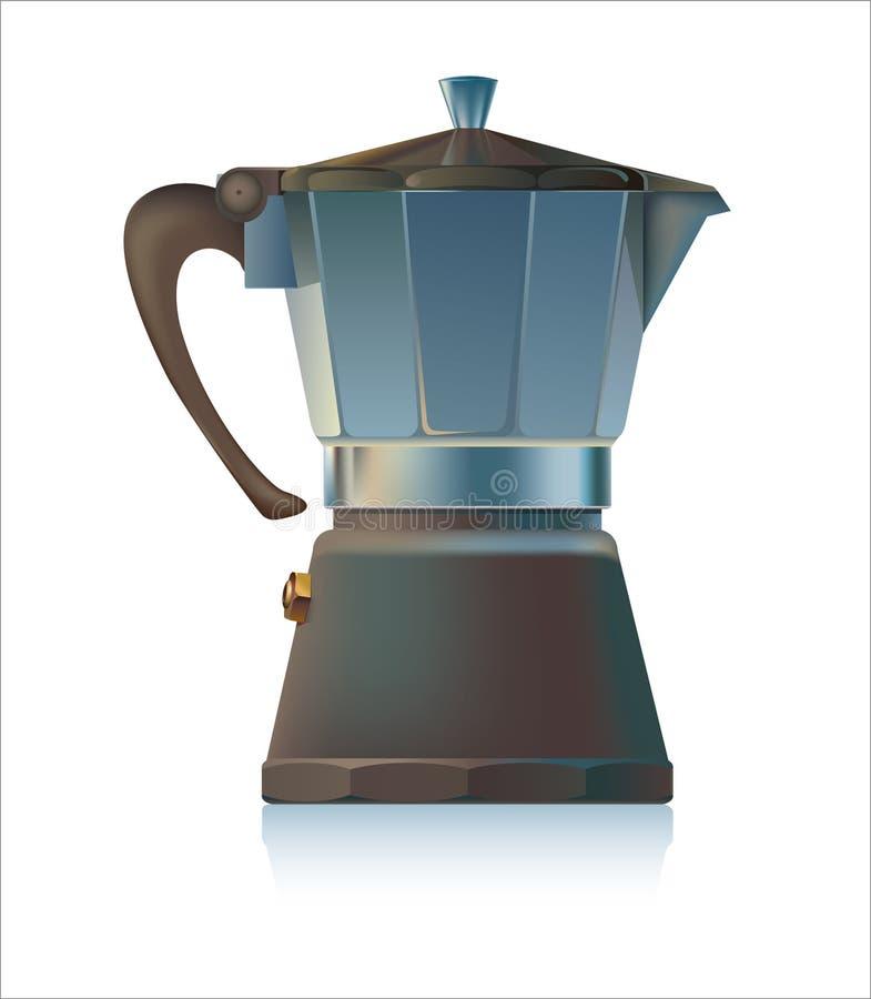 верхняя часть печки создателя espresso бесплатная иллюстрация