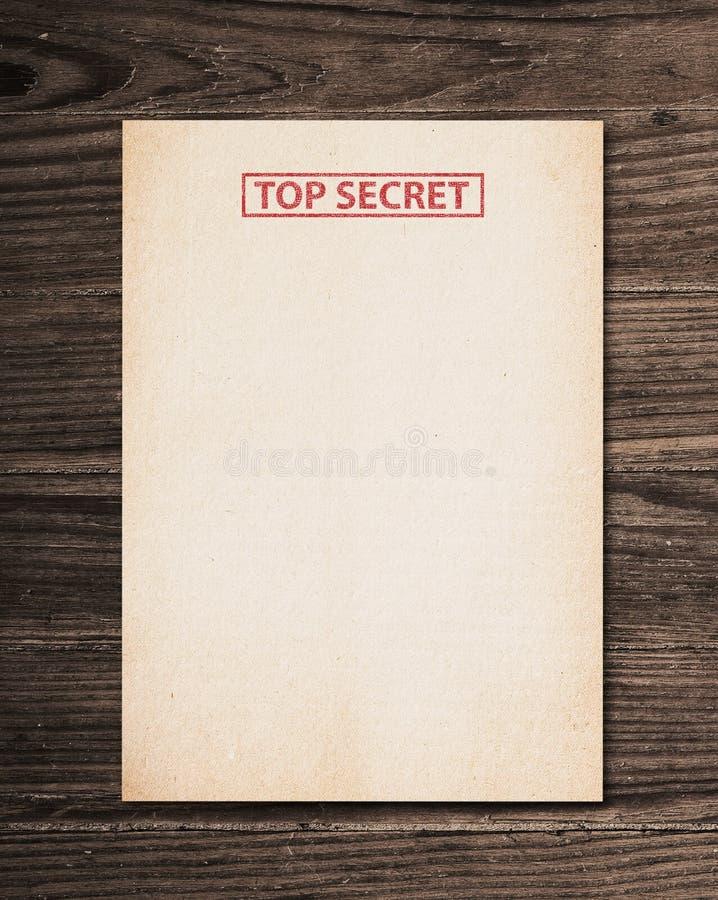 верхняя часть секрета документа стоковое фото