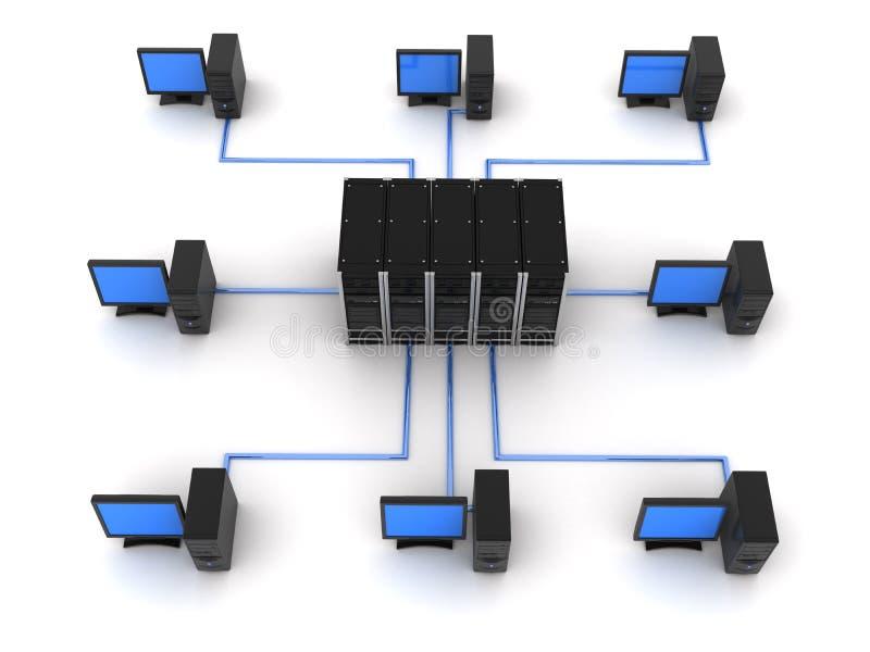 верхняя часть сервера компьютера иллюстрация штока