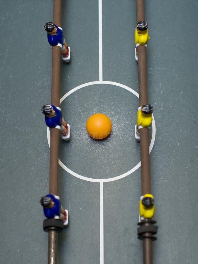 верхняя часть съемки игры foosball стоковые изображения rf