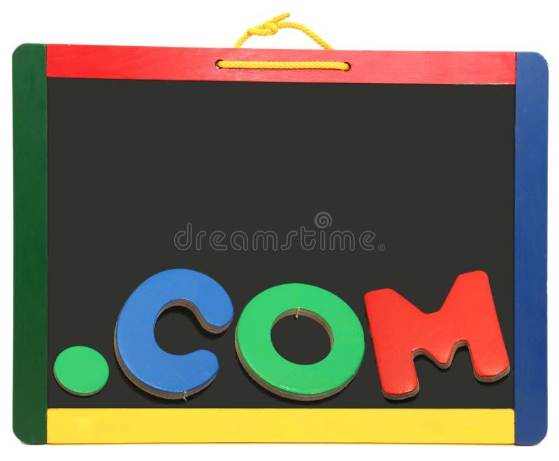 верхняя часть уровня многоточия домена com chalkboard стоковая фотография