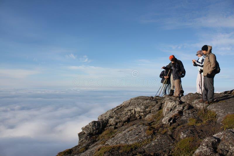 верхняя часть pico горы стоковое изображение rf
