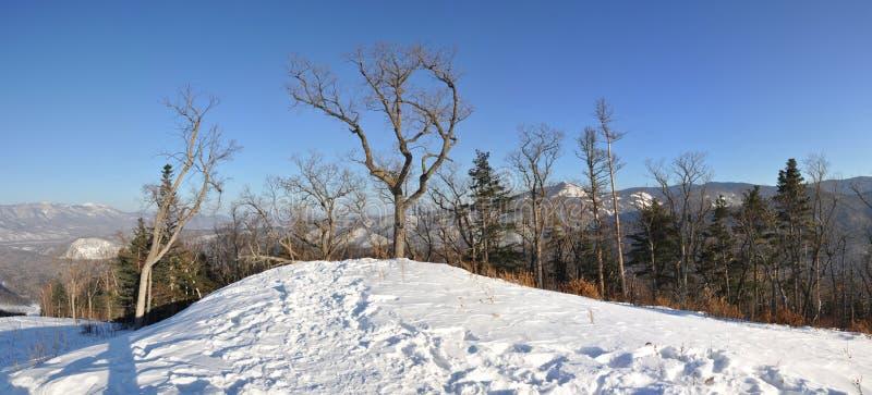 Верхняя часть Pidan холма для кататься на лыжах стоковая фотография