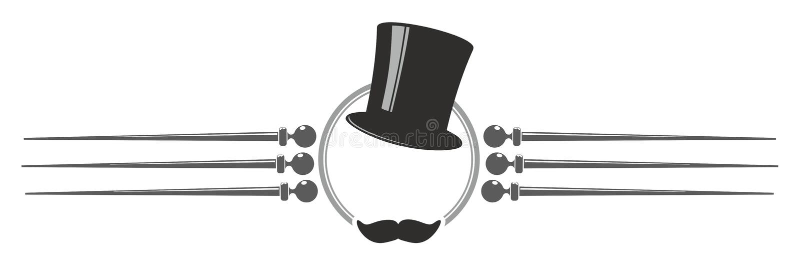 Верхняя шляпа иллюстрация штока