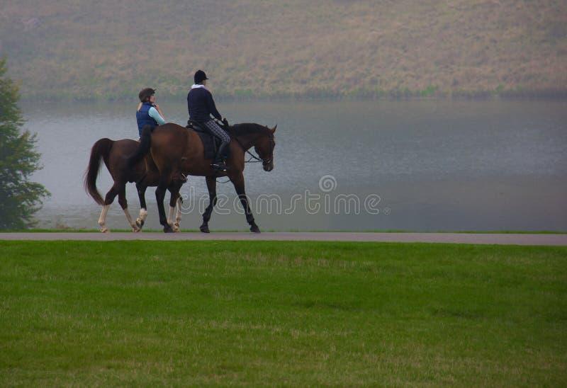 Верховая езда на основаниях дворца Blenheim стоковое изображение rf