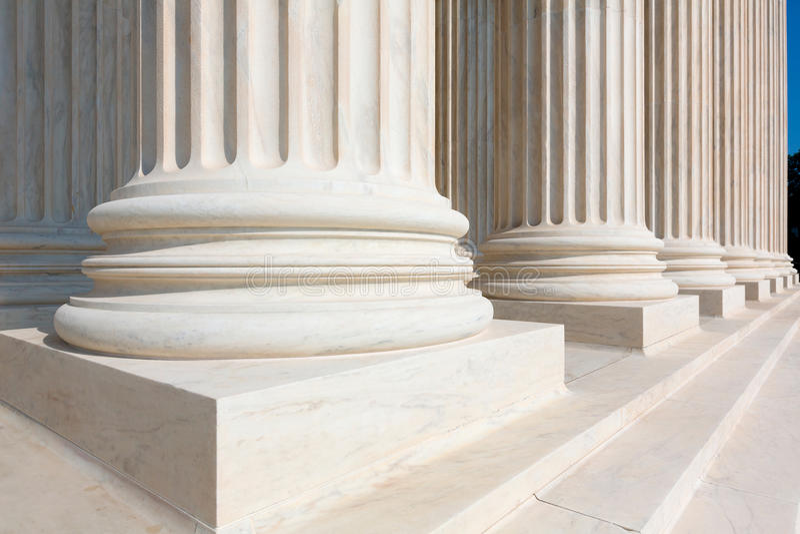 Верховный Суд строки столбцов Соединенных Штатов стоковое фото