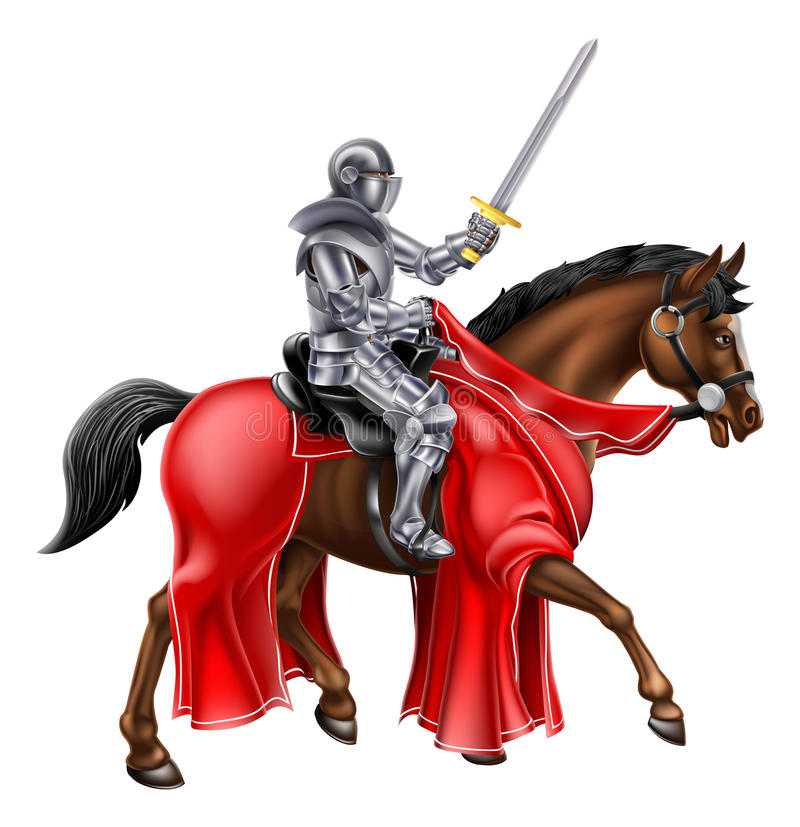Верхом рыцарь бесплатная иллюстрация