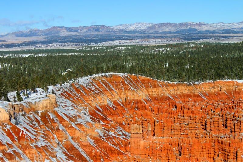 верхушка пункта воодушевленности каньона bryce стоковое изображение rf