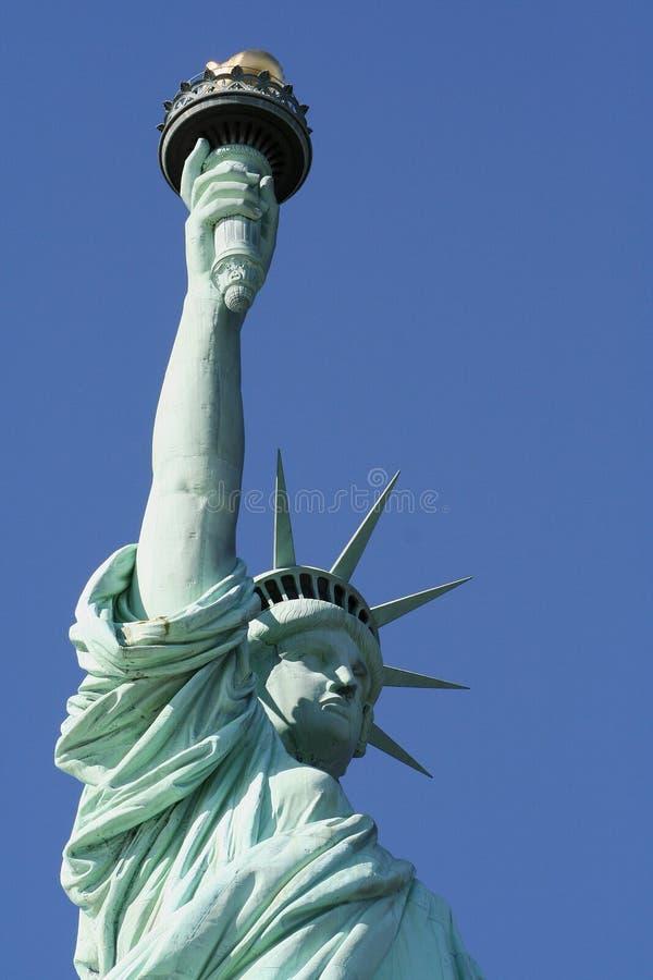 верхушка статуи вольности стоковая фотография rf